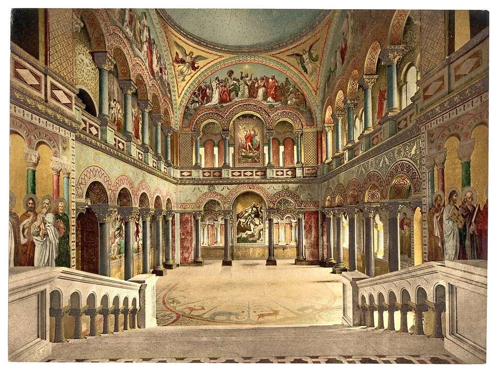 Photochrome de la salle du trône, entre 1890 et 1900 © Bibliothèque du Congrès, États-Unis, Wikimedia Commons, Domaine public
