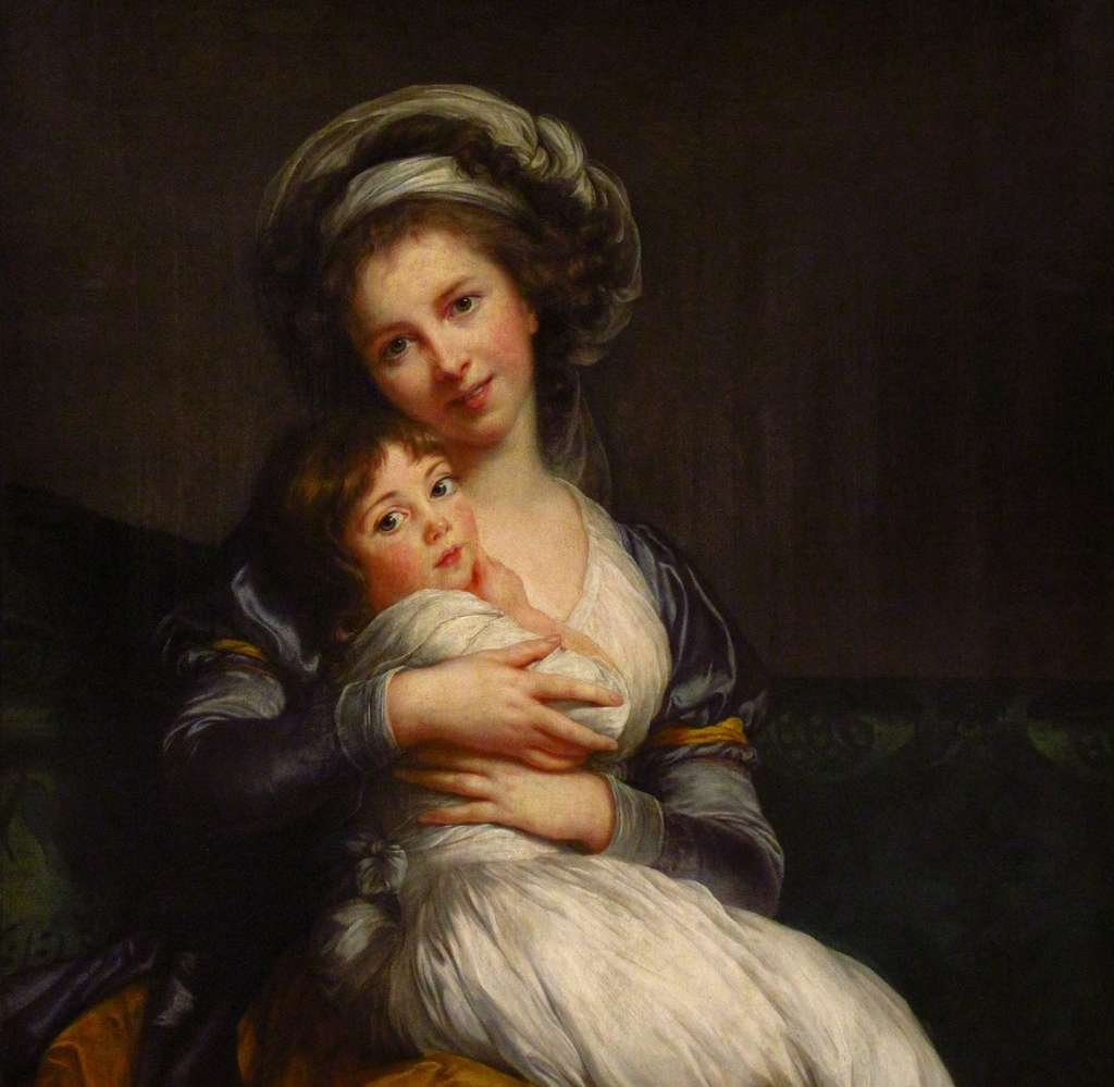Madame Vigée Le Brun et sa fille par Élisabeth Vigée Le Brun en 1786. Musée du Louvre, aile Sully, salle 52. © Wikimedia Commons, domaine public