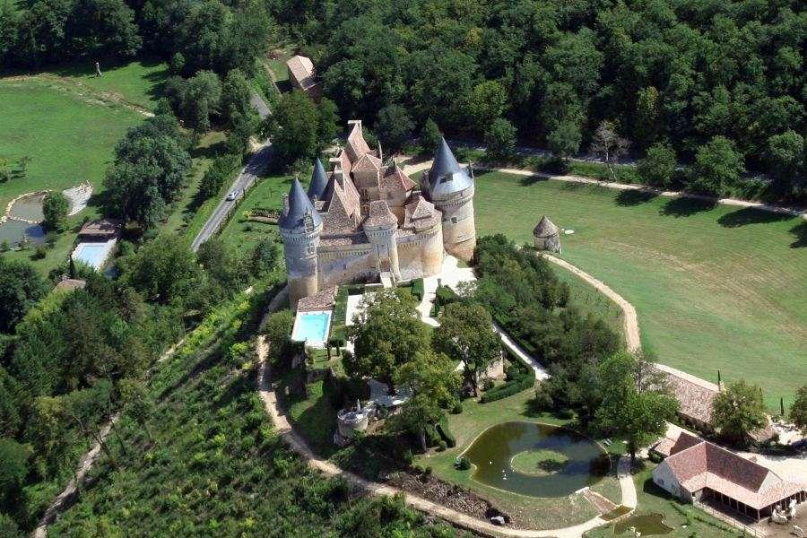 Le château de Bannes, en Dordogne