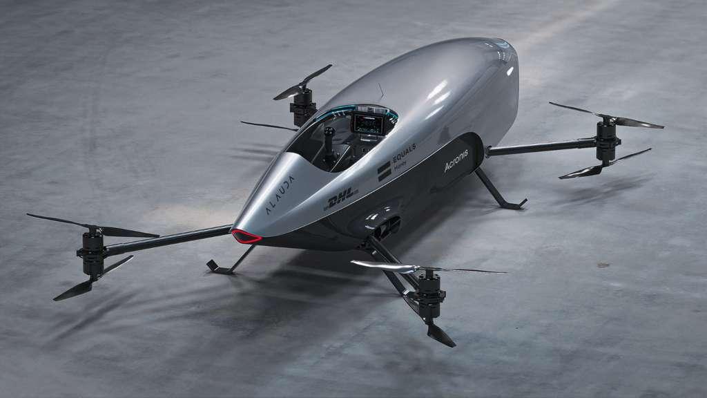 Le prototype Airspeeder Mk3 est équipé de radars, Lidar et de caméra pour éviter les collisions et retransmettre des images de la course en vue subjective. © Alauda Airspeeder