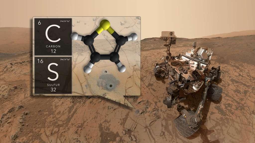 Le 7 juin 2018, la Nasa annonçait la découverte par Curiosity de molécules organiques dans des roches sédimentaires âgées de 3,5 milliards d'années. © Nasa, GSFC