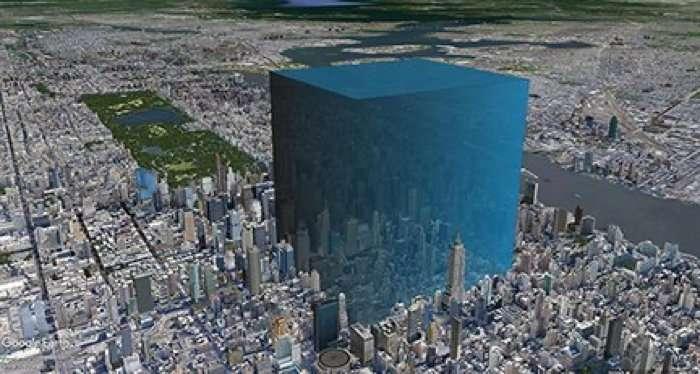 Sur cette image, une idée de ce que peuvent représenter entre 600 et 750 millions de mètres cubes d'eau. © Philipp Arndt, Scripps Institution of Oceanography, Université de Californie à San Diego