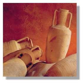 Les amphores servaient de contenant au vin.