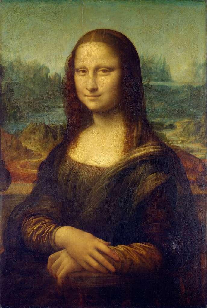 Portrait de Mona Lisa del Giocondo, la Joconde, par Léonard de Vinci (entre 1503 et 1506 ? Incertitude sur la date de création de l'œuvre). Musée du Louvre, Paris. © Wikimedia Commons, domaine public
