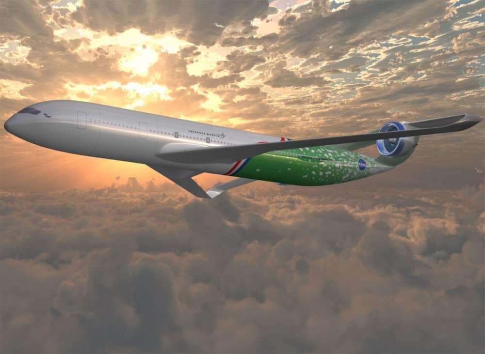 Un projet de Lockheed Martin avec une voilure curieuse et deux moteurs sur deux dérives, à l'arrière. © Nasa/Lockheed Martin