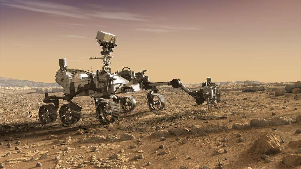 C'est avec le rover Mars 2020, baptisé Perseverance, que débutera la mission de retour d'échantillons martiens. © Nasa, JPL-Caltech