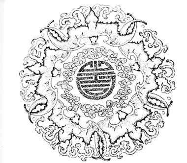 Le motif chinois « shou ».