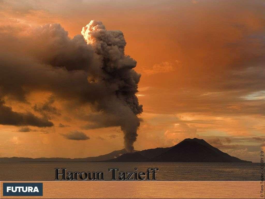 Haroun Tazieff - Première observation du volcan Tavurvur