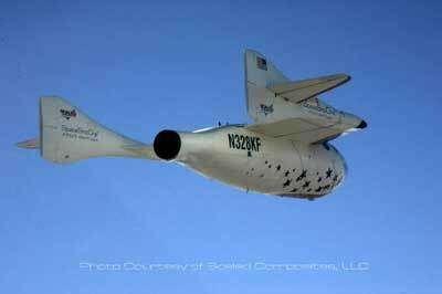 Retour du SpaceShipOne en vol plané © Scaled Composites