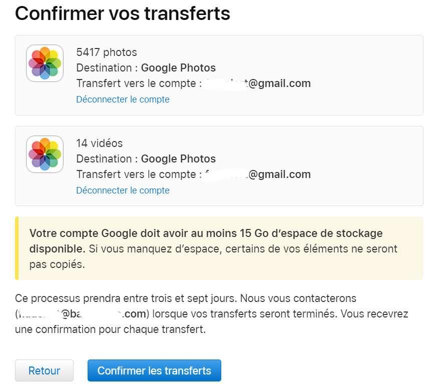 Trois à sept jours sont nécessaires pour le transfert des fichiers © Futura