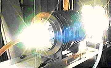 Fig 3 : Générateur 50 kW en fonctionnement avec 7 sources lumineuses