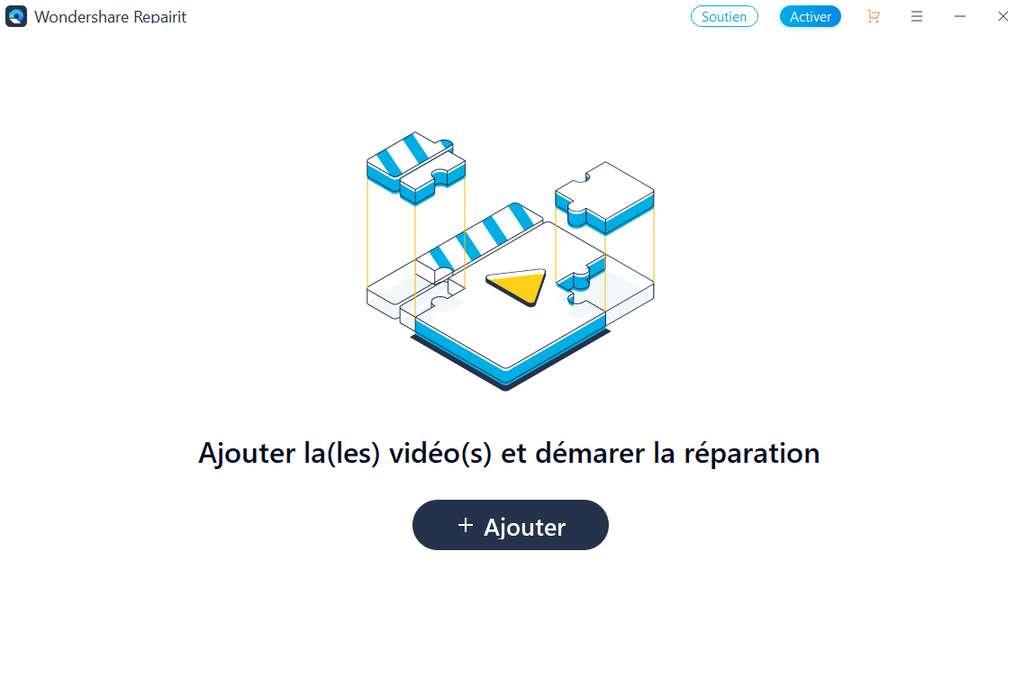 Ajoutez vos vidéos endommagées dans l'interface de Wondershare Repairit © Wondershare