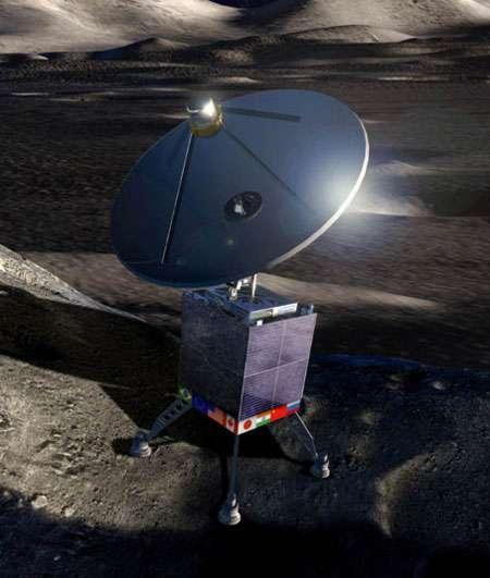Le projet de l'International Lunar Observatory (ILO) prévoit d'installer un télescope radio autonome sur la Lune. Cet organisme a pu utiliser, en collaboration avec l'Agence spatiale chinoise, le télescope ultraviolet à bord du rover Yutu de la mission Chang'e 3. © ILO