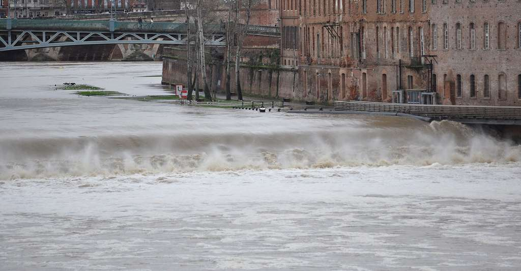 Crue de la Garonne à Toulouse (26 janvier 2014). © Don-Vip, Wikimedia commons, CC by-sa 3.0
