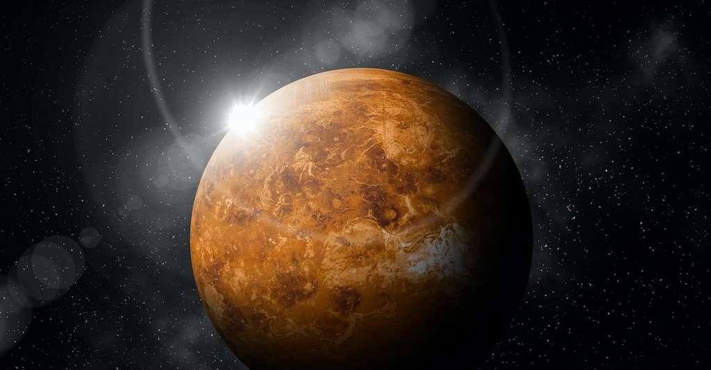 Le 11 juillet 2020, la sonde Parker Solar Probe est passée au plus proche de Vénus, à seulement 833 kilomètres de sa surface. Objectif : profiter de la gravité de la planète pour s'approcher toujours plus du Soleil. © WithanTor, Adobe Stock