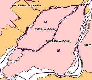 Plan de Montréal (île Bizard). © DR