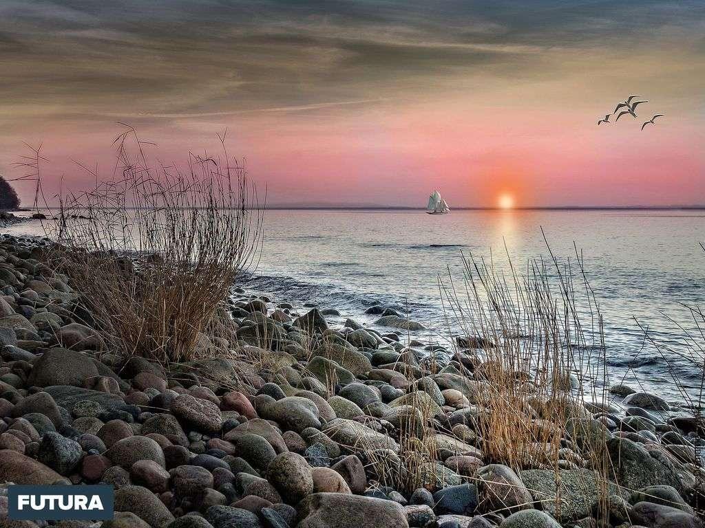Coucher de soleil en mer Baltique