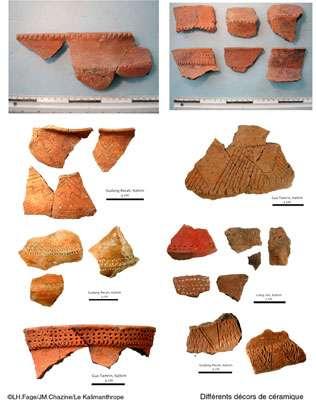 2 - Variété des céramiques décorées. (Cliquez en bas à droite de l'image pour l'agrandir.)