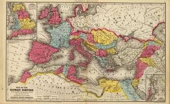 Carte de l'Empire romain à l'époque de sa plus grande étendue, vers 107 ap. J.-C. Numa Pompilius a ajouté deux mois au calendrier romain, qui n'en comptait que dix. © DP