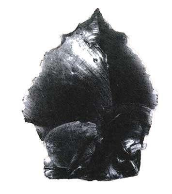 Outil aborigène en tectite, environ 2cm