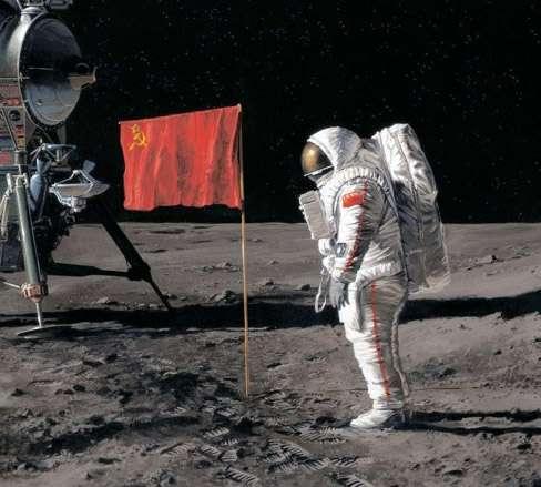 Le programme d'exploration lunaire de la Russie prévoit la mise à l'épreuve de nouvelles technologies qui seront nécessaires aux missions martiennes. En particulier, un nouveau système d'atterrissage de précision sera testé sur la Lune avant d'embarquer sur ExoMars 2018. Quant à l'envoi de cosmonautes russes sur la Lune, il n'est pas prévu avant deux ou trois décennies. © Delcourt /Pécau/Buchet