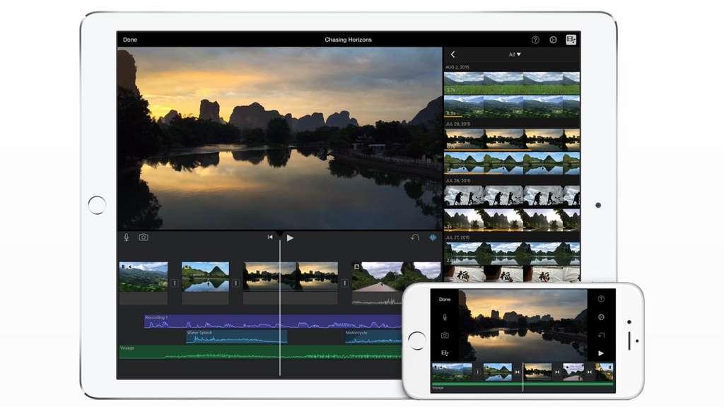 iMovie contient des filtres et effets spéciaux facilement utilisables grâce à l'interface épurée. © Apple
