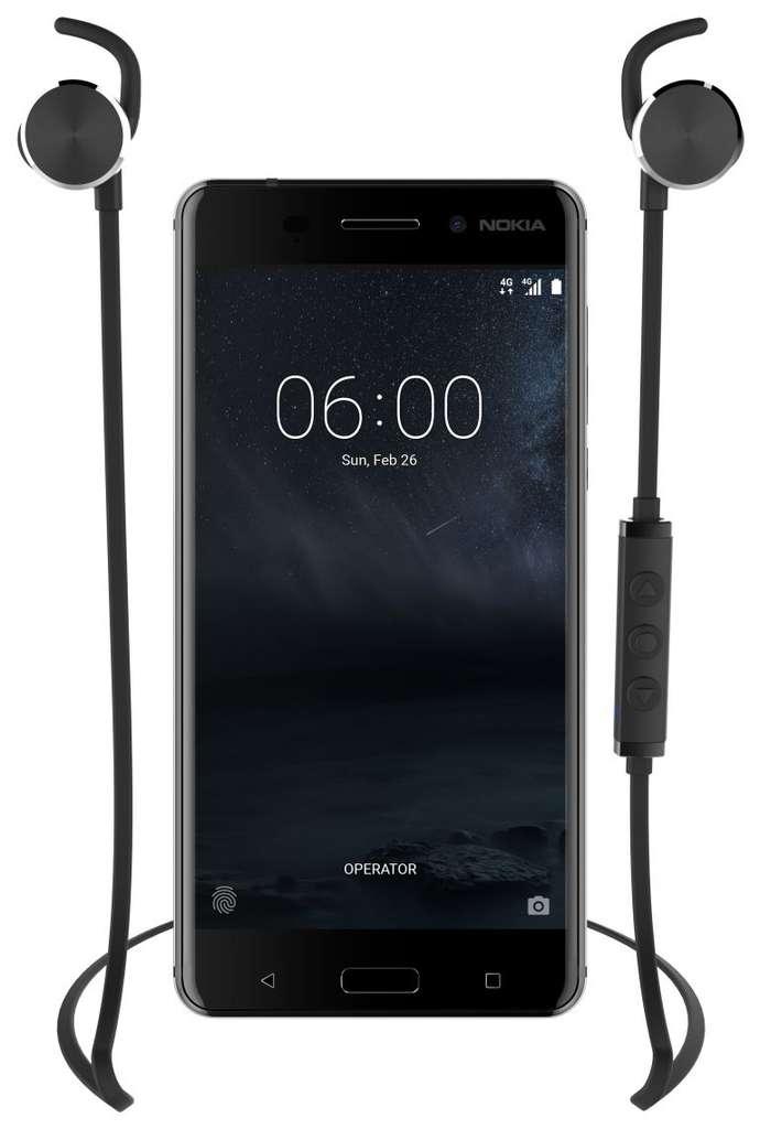 Outre le Nokia 3310, la marque finlandaise a présenté trois autres smartphones : les Nokia 3, Nokia 5 et Nokia 6. © Nokia