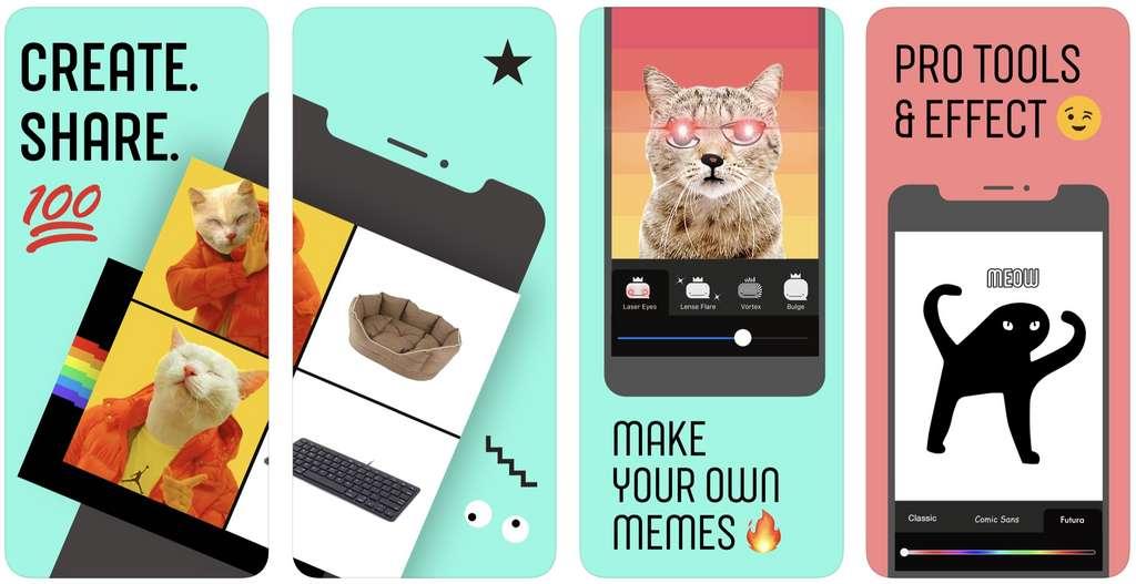 Plus besoin d'être doué en montages photo pour créer des mèmes. © Facebook