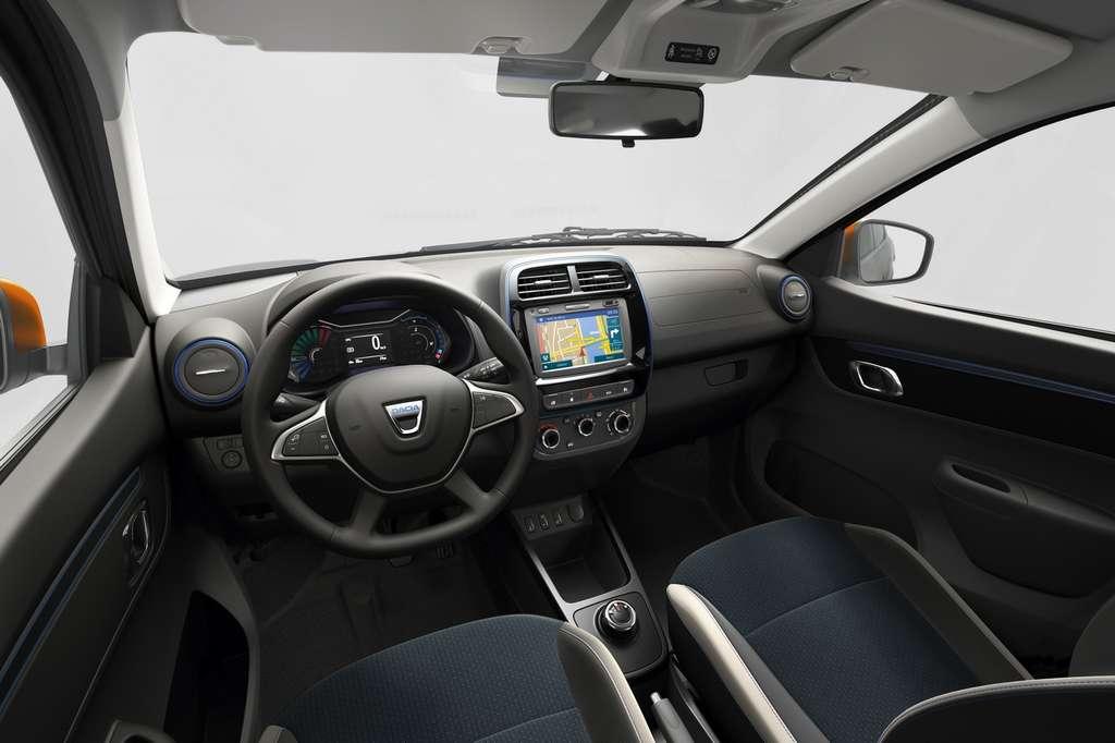 L'intérieur de la Dacia Spring. © Renault