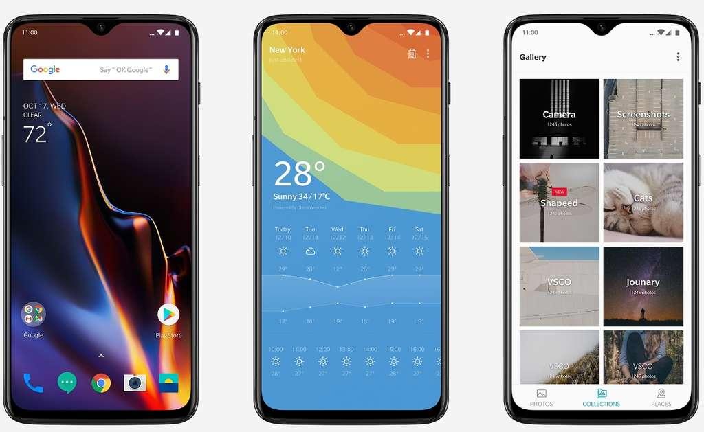 Basée sur Android 9 Pie, la partie logicielle du OnePlus 6T a été améliorée et optimisée. C'est notamment le cas pour les prises de vues dans l'obscurité. © OnePlus