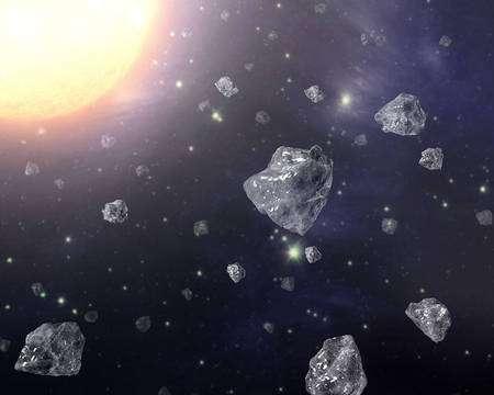 Des nanodiamants flottant aux abords d'une étoile. Cliquez pour agrandir. Crédit : Nasa/JPL-Caltech/T. Pyle (SSC)