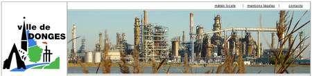 La raffinerie de Donges, présentée sur le site de la ville. © Ville de Donges