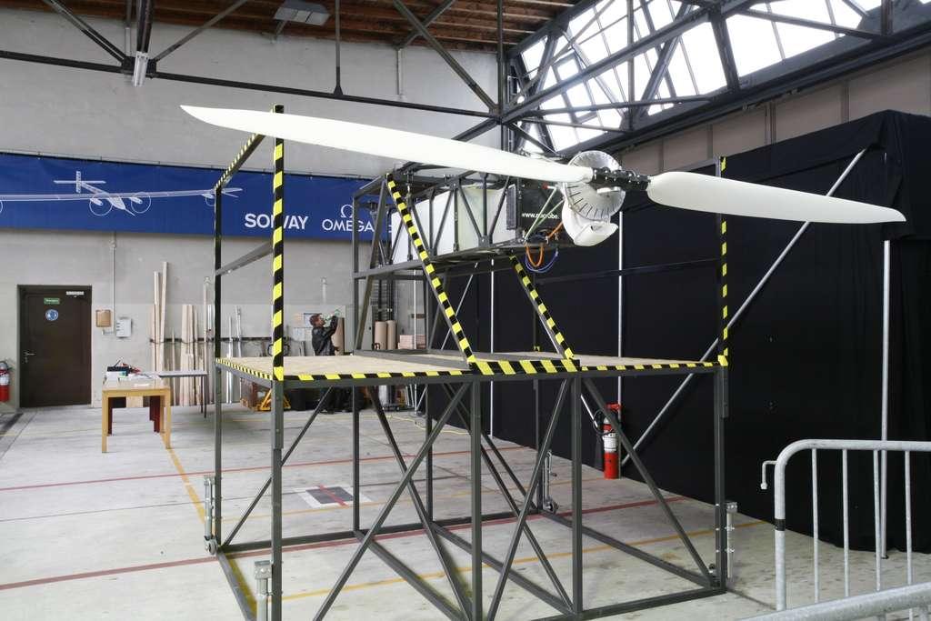 La halle de construction de Solar Impulse. © Solar Impulse, Stéphane Gros