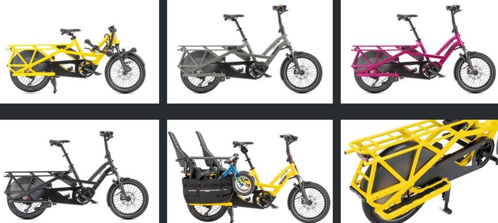 Le GSD de Tern se prête à diverses configurations pour transporter des personnes ou du fret tout en étant hyper compact. © Tern Bicycles