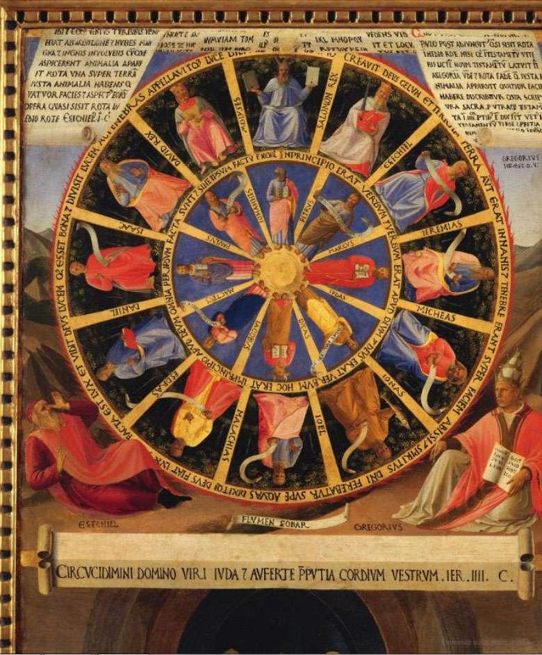 Armoire des argenteries. Vue d'ensemble de la roue mystique (Fra Angelico). © Dunod