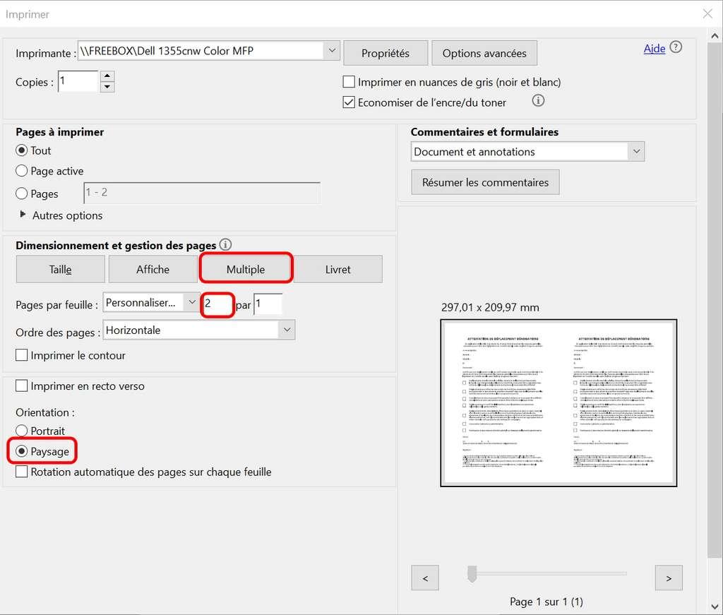 Utilisez la version gratuite d'Adobe Acrobat Reader pour imprimer l'attestation. © Futura