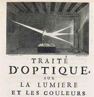 La version française du premier traité d'optique de Newton date de 1722. © DR
