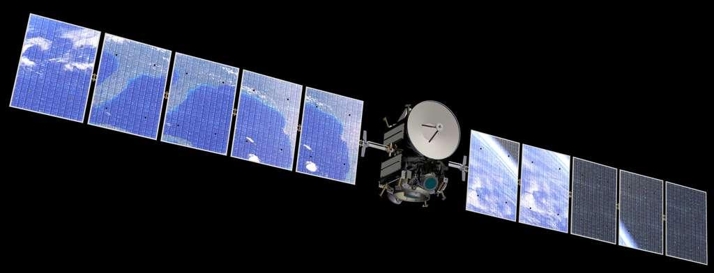 La sonde Dawn embarque trois instruments scientifiques. Une caméra (visible et proche infrarouge), un spectromètre gamma et à neutrons (Grand) et un spectromètre en lumière visible et infrarouge (Vir). © Nasa