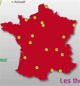Carte des manifestations dans 17 villes françaises. Cliquez sur l'image pour afficher la page Web. © Société des neurosciences