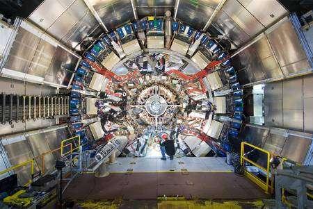Une partie du détecteur ATLAS au CERN (Crédit : Claudia Marcelloni CERN).