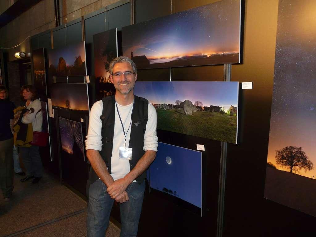 L'astrophotographe Laurent Laveder présentait son travail. © J-B Feldmann