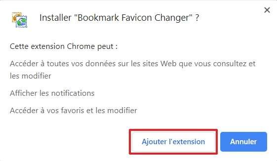 Une confirmation de l'installation est requise, cliquez sur « Ajouter l'extension ». © pxhere.com