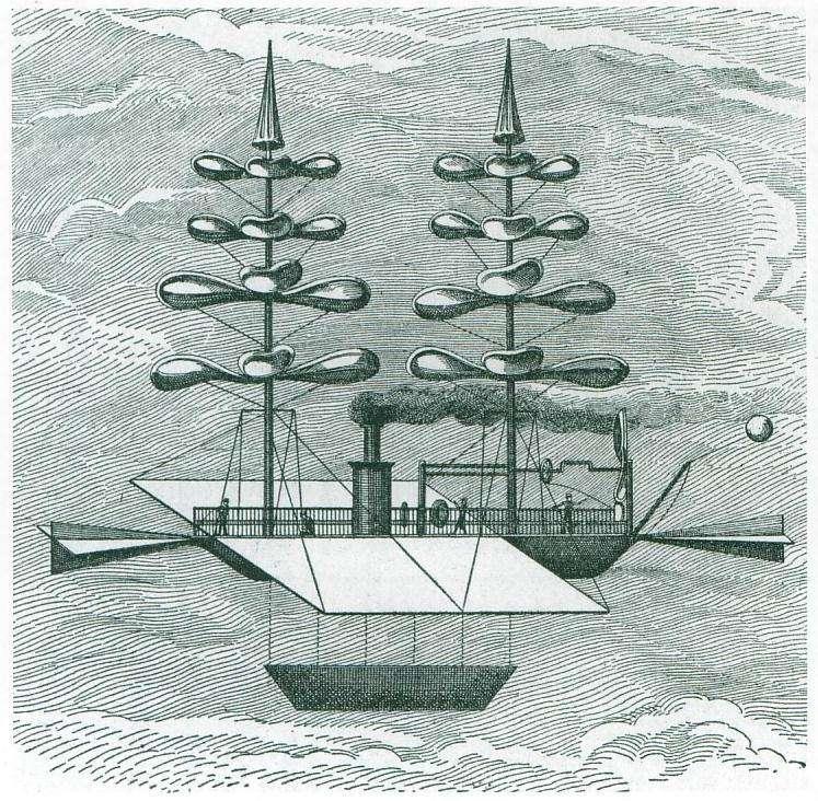 L'hélicoptère imaginaire de Gabriel de la Landelle