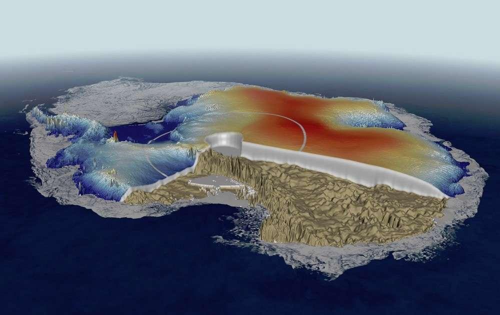 L'Antarctique aussi bénéficie du savoir-faire de CryoSat. © Esa