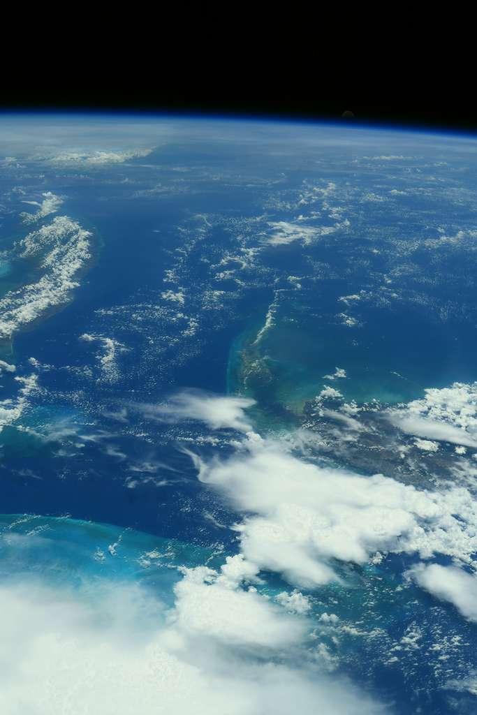 Les Bahamas, photographié par l'astronaute français, en juillet 2021. © Esa, Nasa, Thomas Pesquet