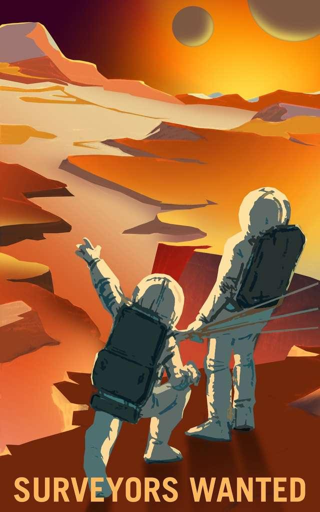 Les explorateurs devront se faire arpenteurs (surveyors). © Nasa, KSC