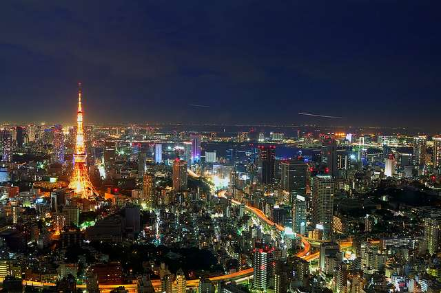Pollution lumineuse et observation du ciel, à Tokyo