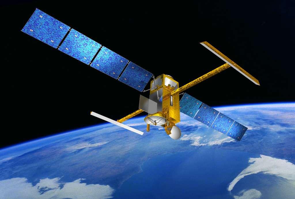 Swot, ce futur satellite du Cnes et de la Nasa, construit par Thales Alenia Space, sera doté d'un radar interféromètre en bande Ka qui rendra la mesure altimétrique encore plus précise. © Cnes, D. Ducros