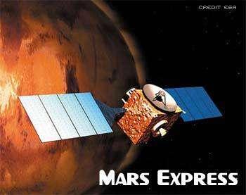 La sonde européenne Mars Express (crédit : ESA)