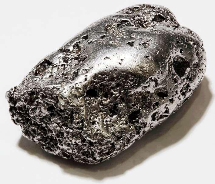 Une pépite de platine. © Wikipédia-Alchemist-hp